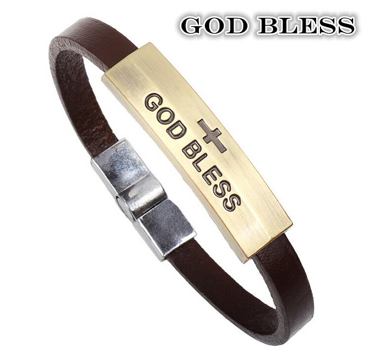 Copper slot cross bracelet