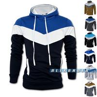 2014 Autumn&Winter Fashion Sport Brand Fleece Hoodies Men,Casual Sweatershirt Men, Pullover Colorful Patch Man Hoody,Slim Hoodie