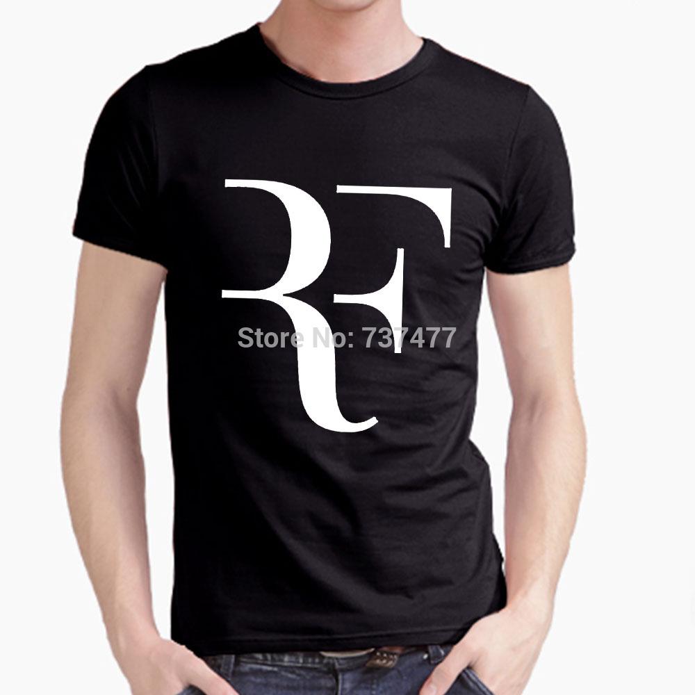 Hot Roger Federer RF Men T Shirts Cotton O Neck Short Sleeves American Apparel Mens Shirt Wholesale Tops Free Shipping(China (Mainland))