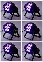 6pcs/lot Cheap Price 7pcs*10W 4IN1 Led Par Light 80W Mini Size RGBW Color Mixing Led Par Can Effect Light 90V-240V