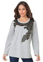 L-8XL Plus Size Women Bird Sweatshirt Ladies Pullover Jumper Tunic Big Large Oversize XXXXL XXXXXL XXXXXXL 2014 New Autumn Fall