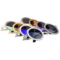 Vintage fashiong sunglasses women's metal wayfarer mirror sun glasse , black ,  blue , brown  and green
