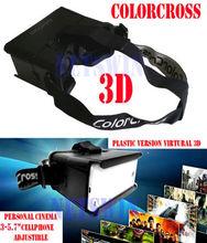 2014 New ColorCross Professional Plastic Edition Head Mount 3d Vr Virtual Reality Glasses Oculus Rift Google Glass Cardboard(China (Mainland))