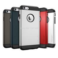 100% Original Spigen Slim Armor Case for iPhone 6, Premium Dual Layered Rounded Edge Drop-Resistance Cases for Apple iPhone 6
