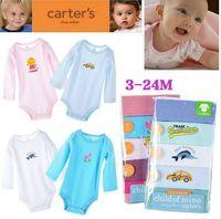 5pcs/lot Spring Autumn Long Sleeve Carters Original Baby Boy Girl Bodysuit Newborn Bodysuit Baby Clothing Overall Free Shipping
