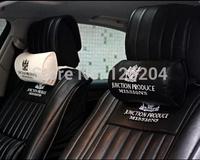 General DAD JP Car neck pillow car leather headrest pillow car styling car pillow JP Leather Embroidery Logo Neck Pillow