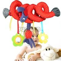 Hot Sale Baby Toys Plush Multipurpose Bed Circle Round Educational Toys Hanging Toy Mirror Bird Travel Toys Gift SV18 SV007215