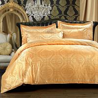 2014 New silk Tencel satin Jacquard bed linen bedding set Queen king size bedclothes duvet cover set noble High Quality