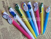 20 pcs/Lot Cute Ballpoint Pens Kawaii Stationery Ballpen Rainbow Animal Caneta Novelty Office School Supplies