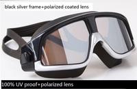 high quality  waterproof anti-fog goggles large size  coated polarized swimming glasses eyewear,