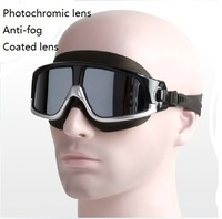 Quality Photochromic UV protection anti-fog swimming  goggles outdoor and indoor swimming eyewear
