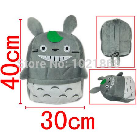 FREE SHIPPING Ghibli Miyazaki's My Neighbor Totoro plush bag cartoon Movie TV soft backpack School bag(China (Mainland))