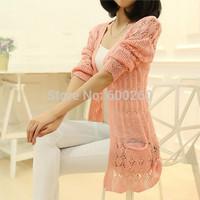 women fashion Summer Cardigan heart Long Sleeve Sweater femininas Cardigans women's coats cheap Sweaters 2014