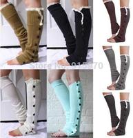 8 colors 2014 trendy womens fashion button wholesale lace boot socks