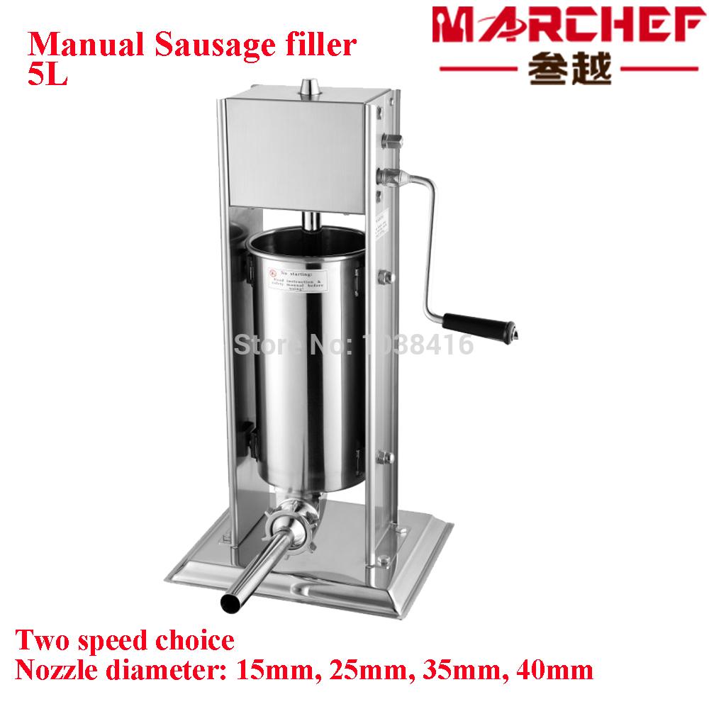 5L Manual sausage filler- stuffer salami maker- meat filler(China (Mainland))