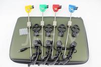 Free shipping Carp Fishing Swingers 4colors LED illuminated Swingers set with EVA packaging case