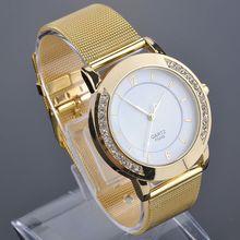 2014 Elegant Women Golden Watches Dress Watches Quartz Stainless Steel Large Rhinestone Case Watch Quartz Watches FMHM386#Y6