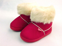 Children/Baby Winter thicker Shoes/boot First Walkers Keep Warm Solid Shoes for Baby Snow Boots free shipping 22-27 MLSAD1024