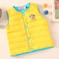 Free shipping Boys and girls children new winter down vest jacket waterproof windproof vest  T#