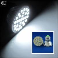 10 Pcs/lot Free Shipping E27 LED 5W Pure White 29pcs 5050 SMD LED Spot Light Lamp Bulb AC220V LED0260