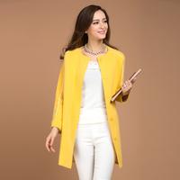 Candy color marten velvet overcoat cardigan mink overcoat long design cardigan mink sweater