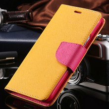Fashion Deluxe Mercury Series Flip Case for Samsung Galaxy Note 2 II N7100 PU Leather Wallet Stand Brand Cover Luxury RCD03754