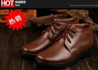 Man Genuines Leather Boots Male Winter fur Shoes Men Warm Boots Shoes Outdoor Men Winter shoes Business Leisure Russian 38-45