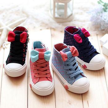 2015 Горячая распродажа, весна-осень, детская девичья обувь с бантиками, высококачественная детская обувь, детские сникерсы с бантиками
