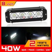 8inch 40W LED Work Light Bar for Tractor ATV Offroad Fog light Spot/Flood/Combo LED Worklight External Light Save on 60w