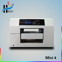 2014 hot sell UV emboss phone case printing machine White ink UV printing Haiwn-LED Mini4