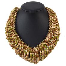 Free Shipping 8 Color Bohemia Lucky Short Wood Bead Necklace Romantic Charm New Fashion Elegant Women