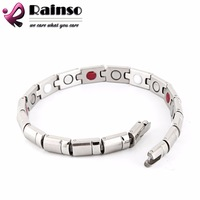 """Free Shipping 2014 Fashion Jewelry Healing Magnetic 316L Stainless Steel Bracelet For Men Or Women With FIR  8.5"""" OSB-270S"""