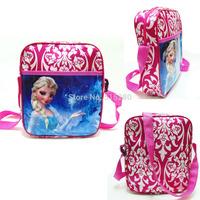 2014 4 Style Elsa & Anna Swagger Bag Hand Bag Children Kids Kindergarten Cartoon Single Shoulder School Bag Free Shipping