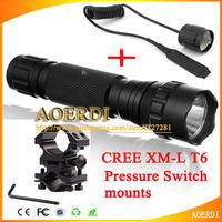 2000Lm 18650 Tactical Flashlight CREE XM-L T6 LED Laser Sight Shotgun LED Torch /mounts/Pressure Switch