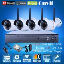 2mp hd wasserdichte ir drahtlose wifi-netzwerk-ip-kamera 1080p Überwachungskamera cctv system+8ch h. 264 nvr videorecorder 2tb hdd(China (Mainland))