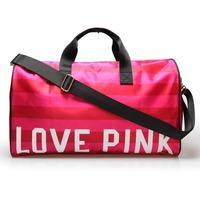 2014 New Travel  Bag  Red Striped pink fringeTravel Duffle Brand Women Large Handbag the bill of ladies shoulder bag