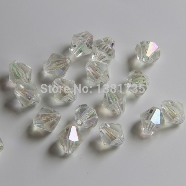 2014 best-selling fashion crystal beads transparent acrylic crystal beads bicone crystal beads jewelry fitting DIY Free shipping(China (Mainland))