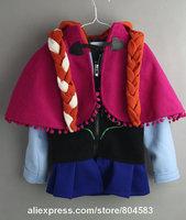 2014 New Autumn  coat girls Snow Queen Hoodies Anna jacket with cloak clothing for children girls hoodies baby & kids coat