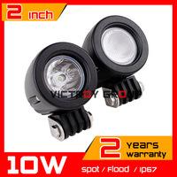 2inch 10W LED Work Light Spot Flood Tractor ATV  Motorcycle Offroad Fog light LED Worklight External Light Save on 27w 18w