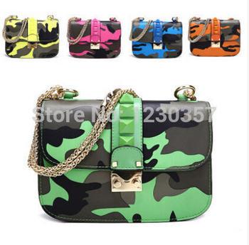 2014 женская мода заклепки сумки на ремне дизайнер известный бренд из натуральной кожи день клатчи девушки маленькая сеть сумка почтальона сумочки сумка