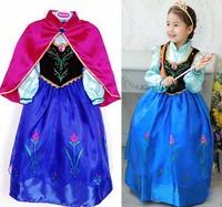 halloween costume for kids fantasia dress princess anna costume girls party dressvestidos infantis vestidos de menina