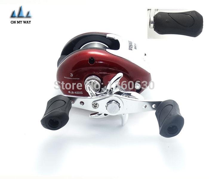 Red Baitcasting Fishing Reel 12+1 ball bearings carp fishing gear handle Right/Left hand reel carretilha pesca free shipping 13(China (Mainland))