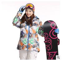 Hot selling women's ski clothing windproof waterproof breathable casual cotton jacket women winter jacket outdoor jackets