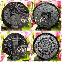 wholesale & retail hehe001-060 / Qgirl001-040 nail art image plate nail template CHOOSING DESIGNS  nail beauty TOOLS