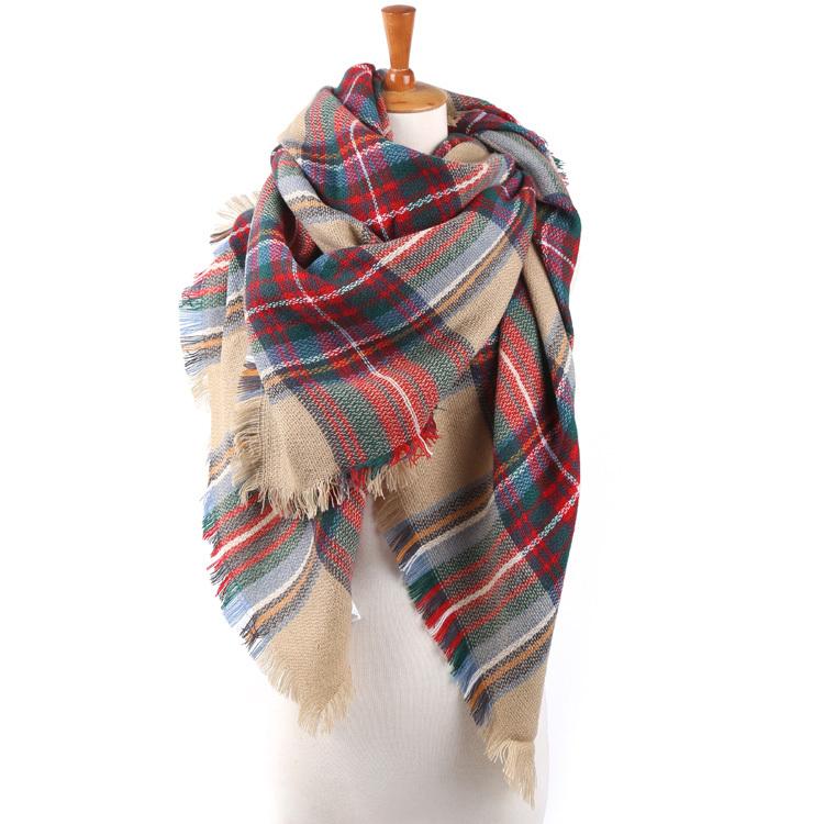 za winter 2014 scarf plaid new designer unisex acrylic basic wrap shawl women female Spring fall Cashmere Christmas gift Factory(China (Mainland))