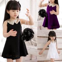 4 Colors Lace Girl Dress Fashion Cute Vestidos Infantis 3-10 age Kids Dresses Clothes Baby Girl Retail Clothes