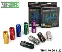 Tansky - NEW D1 LIGHT WEIGHT WHEEL RACING LUG NUTS P:1.25, L:52mm Default Color is Golden TK-D1-660 1.25