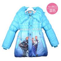 New Arrival 2014 children winter Frozen coat