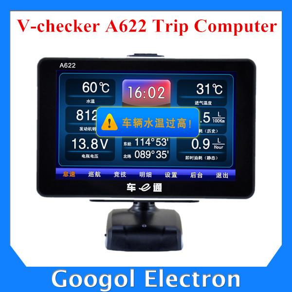 V-CHECKER A622 Auto Trip Computer GPS Navigator/TPMS/Oil Statistics Auto Car Trip Computer OBD2 V-CHECKER VCHECKER Scanner A622(Hong Kong)