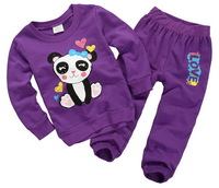 Girl's Autumn/Winter Long Sleeves French Terry Fabric Clothing Set, Comfortable Outdoor Activity Suits, 6 Sizes/lot - JBTS51